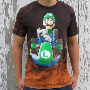 Mario Kart Luigi Bleach Tee sz L 🎉HP 🎉